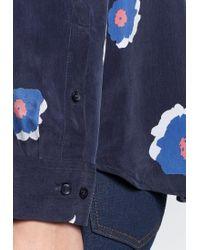 Seidensticker Blue Hemdbluse »Schwarze Rose« Langarm Kragen Floral
