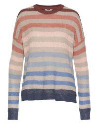 Pepe Jeans Multicolor Strickpullover »SUE« aus Leinenmischung & mit trendigen Streifen