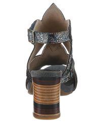 LAURA VITA Black »Ceclesteo« Sandalette mit feinem Metallic-Muster