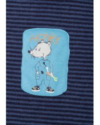 Schiesser Pyjama in langer Form in Blue für Herren