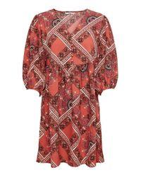 ONLY Red Bedrucktes Kleid