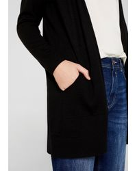 Edc By Esprit Black Longstrickjacke mit aufgesetzten Kängurutaschen