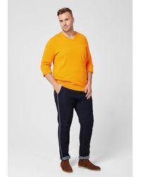 S.oliver Big Size-Pullover in Yellow für Herren