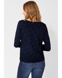 Street One Blue 3/4-Arm-Shirt mit Schleifendetail