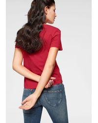 Tommy Hilfiger Red T-Shirt »TJW SOFT JERSEY TEE« mit Logo-Flag auf der Brust