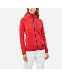 O Neill Red Fleecejacke mit Kapuze »Piste hoodie«