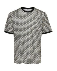 Only & Sons Bedrucktes T-Shirt in Blue für Herren