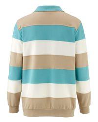 Roger Kent Sweatshirt mit eingesetzten Streifen in Blue für Herren