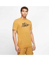 Nike Trainingsshirt in Brown für Herren