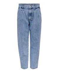 ONLY Blue ONLHavana Life HW Carot Cropped Straight Fit Jeans