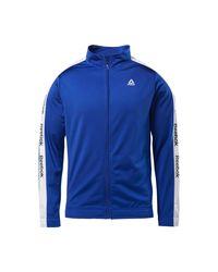 Reebok Trainingsjacke »Training Essentials Linear Logo Track Jacket« in Blue für Herren