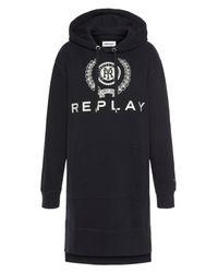 Replay Black Sweatkleid mit großem Logo-Print