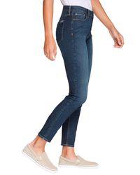 Eddie Bauer Gray 5-Pocket-Jeans Stayshape - Skinny - High Rise - Slightly Curvy
