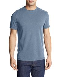 Eddie Bauer T-Shirt Contour Performance T-Shirt in Blue für Herren