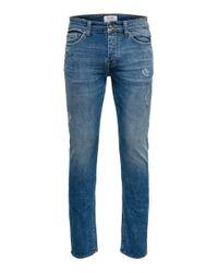 Only & Sons ONSLoom Blue Wash Slim Fit Jeans für Herren