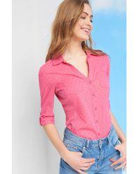 ORSAY Red Hemdbluse mit Knopfleiste