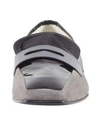 heine Gray Slipper mit Penny-Loafer-Element