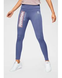 Reebok Purple Leggings CL R LEGGINGS