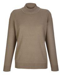 Paola Brown Pullover in weicher Qualität