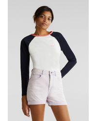 Edc By Esprit Purple Baumwoll-Stretch-Shorts