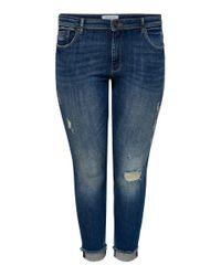 Only Carmakoma Blue Curvy Carlise Reg Ankle Skinny Fit Jeans