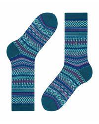 Burlington Green Socken Magical Fair Isle (1 Paar)