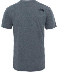 The North Face T-Shirt »Simple Dome Kurzarm T-Shirt Herren« in Gray für Herren