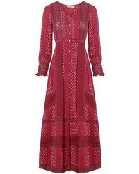 LoveShackFancy Red Desert Victorian Maxi Dress