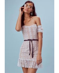 For Love Lemons Dakota Lace Mini Dress Lyst
