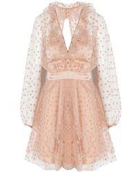 For Love & Lemons Multicolor All That Glitters Mini Dress