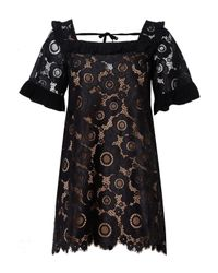 For Love & Lemons Black Sonya Babydoll Dress