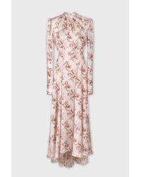 Paco Rabanne Pink Long Satin Dress
