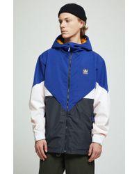 Adidas Blue Premiere Riding Snow Jacket for men