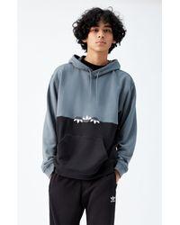 Adidas Blue Slice Trf Colorblocked Hoodie for men