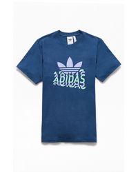 Adidas Blue Multi-fade T-shirt for men