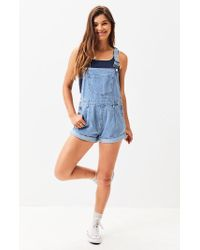 Volcom Blue Not Over It Overalls