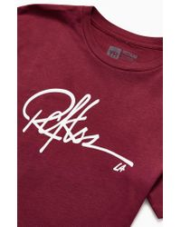 Young & Reckless Red Burgundy Signature T-shirt for men