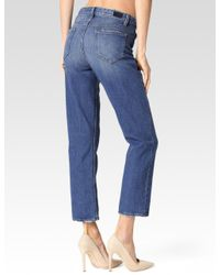 PAIGE - Blue High Rise Sarah Straight for Men - Lyst