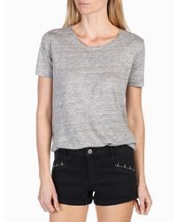 PAIGE | Gray Rosie Hw X Collection Cassandra Shirt | Lyst