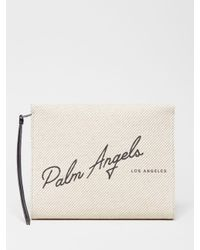 Palm Angels ロゴ クラッチバッグ White
