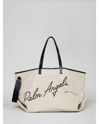 Palm Angels ロゴ ハンドバッグ White