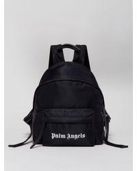 Palm Angels Essential ロゴプリント バックパック Black