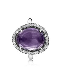 PANDORA | Purple Statement Amethyst Ring | Lyst