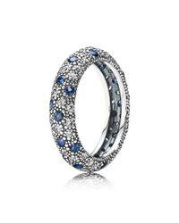 Pandora - Midnight Blue Cosmic Stars Ring - Lyst