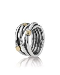 Pandora - Metallic Intertwined Ring - Lyst