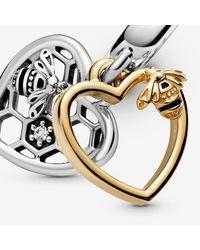 Pandora Metallic Hearts & Bees Dangle Charm - Final Sale