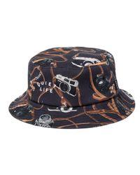 The Quiet Life Black Camera Strap Bucket Hat