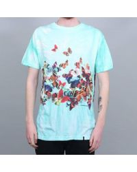 Huf Butterfly Effect Tiedye T-shirt Blue for men