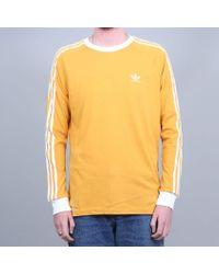 Adidas Originals Adidas California 2.0 Longsleeve T-shirt Tactile Yellow / White for men