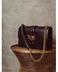 Borsa love bag simply nera in pelle di Pinko in Black